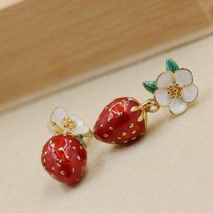 Picnic Perfect Strawberry Multi Drop Earrings